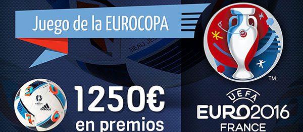 El juego de la #Euro2016 ya está disponible con 1250€ en premios y ¡es GRATIS!